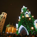 Kalėdų eglės įžiebimas Vilniuje