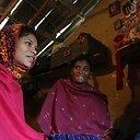 Nepalo moters portretas