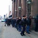 Trečiadienį ryte daugiau nei 200 kauniečių laukė Lietuvos banko darbo pradžios.