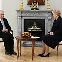 Justinas Marcinkevičius ir Dalia Grybauskaitė