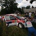 """Dainiaus Matijošaičio su """"Mitsubishi Lancer Evolution"""" avarija Estijos ralyje"""