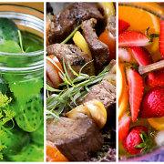 Didysis iškylos valgiaraštis: nuo užkandėlių iki šašlykų