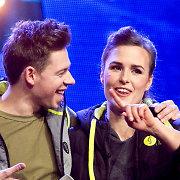 """Su Jurgiu Brūzga """"Eurovizijos"""" atrankoje dainavo jo žmona Akmėja: """"Dabar jo laikas ir tegu jis žydi"""""""