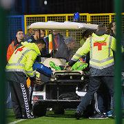 Fejerverku sužeistas Igoris Akinfejevas – ligoninėje, Juodkalnijos ir Rusijos mačas nutrauktas