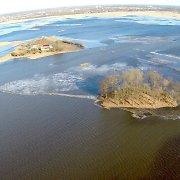 Kelyje Šilutė–Rusnė vandens gylis išlieka iki 21 centimetro