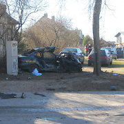 """Utenoje nuo policijos bėgęs girtas """"Audi A6"""" vairuotojas trenkėsi į taksi ir pražudė tris gyvybes"""