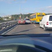 Vilniaus aplinkkelyje susidūrė automobiliai