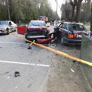 """Prie Kazlų Rūdos susidūrė du """"Audi"""" ir """"Opel"""" – sužaloti visi trys vairuotojai"""