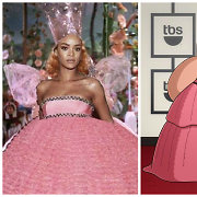 Gigantiška Rihannos suknelė tapo internautų pašaipų objektu