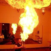Barmeno triukas su ugnimi įvarė baimės Deividui Meškauskui ir Karinai Jeremian