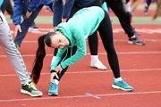 Karina Krysko-Skambinė Kauno stadione mankštinosi viešoje treniruotėje