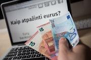 Pirmąjį vasario sekmadienį – netikri eurai Kaune, Vilniuje ir Trakų rajone