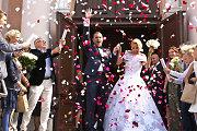 Šermukšnių medžiais puoštoje Vilniaus bažnyčioje susituokė Indrė Kavaliauskaitė ir Jogaila Morkūnas