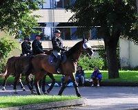 Policijos pareigūnai sostinėje ruošiasi sutikti futbolo sirgalius iš Lenkijos