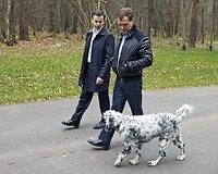 Medvedevas su šuniu