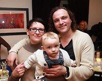 Jurga Klimaitė-Riebling su vyru Dirku ir dukrele