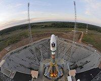 """Soyuz ST-B"" raketų pakilimo bazėje Prancūzijoje"