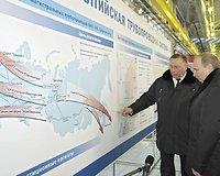 """Vladimiras Putinas ir """"Transneft"""" vadovas Nikolajus Tokarevas"""