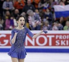 Rusijos triumfas Amerikoje: šešiolikmetė čiuožėja pasiekė naują pasaulio rekordą