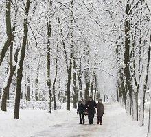 Baltarusijos sostinę užklojo gausus sniegas