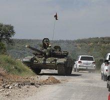 Sirijoje kurdų ir arabų pajėgos paskelbė pradėjusios puolimą prieš IS bastioną