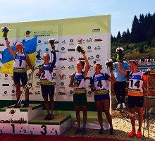 Per plauką nuo istorinio įrašo: G.Leščinskaitė pasaulio jaunimo vasaros biatlono čempionate – ketvirta