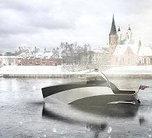 Išskirtinį laivą sukūręs Lukas Avėnas norėtų, kad jis plaukiotų Lietuvoje