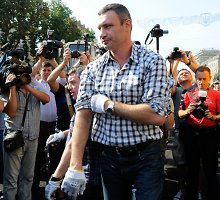 Vitalijus Klyčko niekaip neįsibėgėja Kijevo politikos ringe