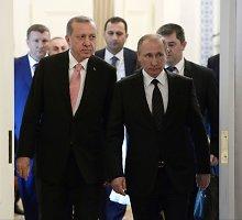 Turkijos ir Rusijos lyderiai derino veiksmus Sirijoje