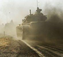 Kurdų pajėgų pažanga Sirijoje pykdo Turkiją, sunkiai sukalbamą Vašingtono sąjungininkę