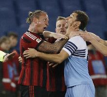 """""""Milan"""" dar kartą pralaimėjo """"Lazio"""" ir iškrito iš """"Coppa Italia"""""""