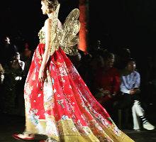 """Julija Steponavičiūtė pristatė išskirtinį """"Dolce & Gabbana"""" aukštosios mados modelį"""