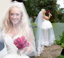 """Oksanos Pikul-Jasaitienės reakcija išvydus vestuvių suknelės kopiją: """"Man smagu ir gražu"""""""