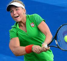 Akvilė Paražinskaitė įveikė Rusijos jaunių žvaigždę ir pateko į pusfinalį Nandzinge
