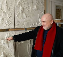 Telšių menininkas Romualdas Inčirauskas savo kūryboje daug dėmesio skiria žydų istorijai ir kultūrai
