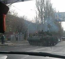 Donecke – karo padėtis: gatvėse važinėja tankai, šaudymui parengti minosvaidžiai