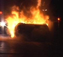 "Nemakščiuose rastas degantis vogtas ""Renault 11"""