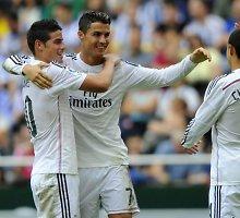 """Madrido """"Real"""" futbolininkai La Korunjoje sukūrė įvarčių šou"""