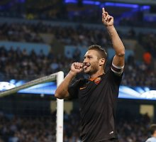 """Gyva """"Roma"""" legenda Francesco Totti – vyriausias Čempionų lygos įvarčio autorius"""
