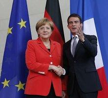 Angela Merkel pagyrė ambicingą Prancūzijos reformų programą