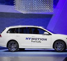"""""""Volkswagen Golf SportWagen HyMotion"""" – ilgas pavadinimas ir nematytas variklis"""