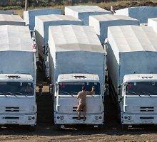 """Nauja Rusijos """"humanitarinės pagalbos"""" kolona pasiekė Donecką"""