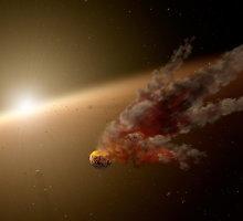 Prie Saulės tipo žvaigždės užfiksuotas planetų susidūrimas