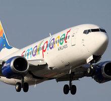 """Netikėtas """"Small Planet Airlines"""" lėktuvo skrydis iš Vilniaus į Kauną"""