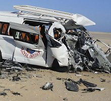 Egipto Sinajaus pusiasalyje susidūrus autobusams žuvo mažiausiai 33 žmonės