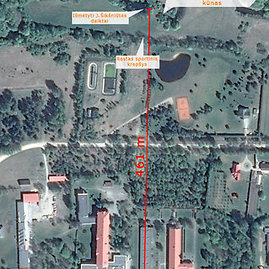 """Google Maps""/15min.lt fotomontažas/Vietos, kur aptiktas J.Šikšniūtės kūnas ir daiktai"