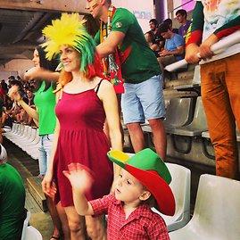 Į pernai Ispanijoje vykusį čempionatą K.Žukauskas vyko su žmona Edita ir sūnumi.