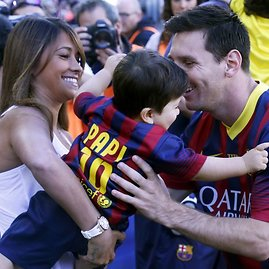"""Reuters""/""Scanpix"" nuotr./Lionelis Messi ir Antonella Roccuzzo"