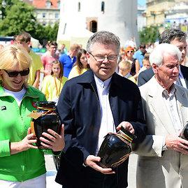 Alfredo Pliadžio nuotr./Olimpinė diena Vilniuje – buvęs LTOK prezidentas Artūras Poviliūnas