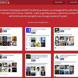 "Propagandiniai puslapiai ""Facebook"""